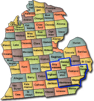 Mapjpg - Map of us 23 in michigan